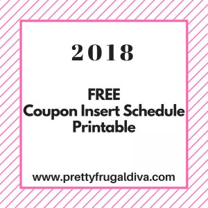 2018 Coupon Insert Schedule Printable