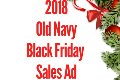 2018 Old Navy Black Friday Sales Ad