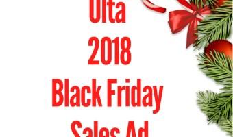 2018 Ulta Black Friday Sales Ad