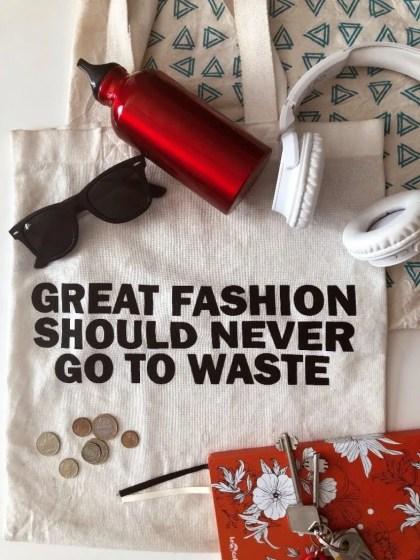 reusable bottle canvas bag zero waste kit for beginners