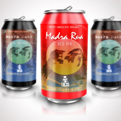 'Madra Rua' beer can design