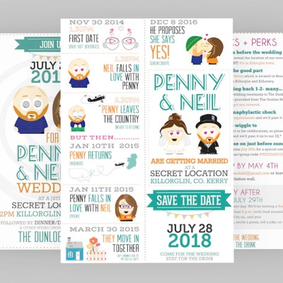 Neil and Penny invitation design