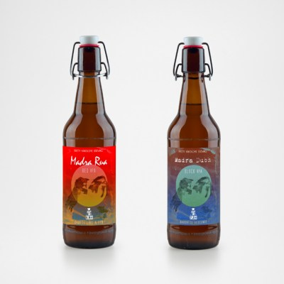 Pretty Handsome beer branding
