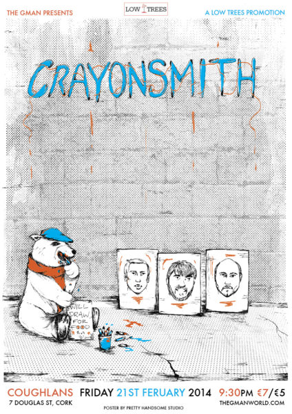 The Gman presents 'Crayonsmith'-Coughlans live February 2014