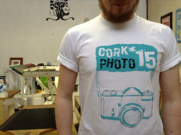 Cork Photo 15 screenrpint t-shirt on white