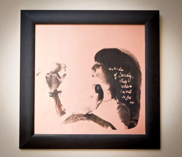 'Patti Smith' screenprint on copperplate