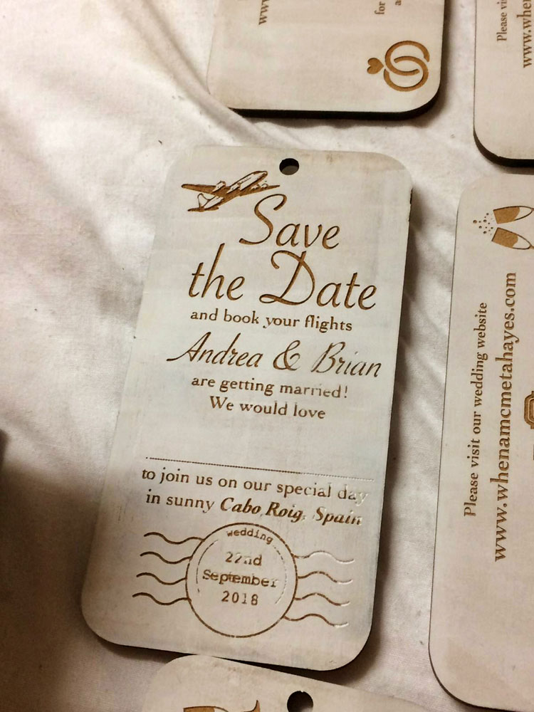 Wedding invitation design laser on wood pretty handsome media vector graphics on adobe illustrator laser cut and laser engraved by pretty handsome studio fablab limerick individually paint rolled stopboris Image collections