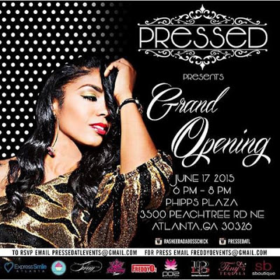 Rasheeda - PRESSED Grand Opening Invitation
