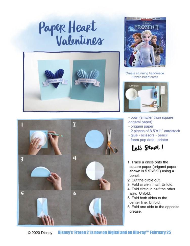 Frozen 2 Paper Heart Valentines