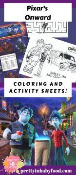 Disney Pixar Onward Activity Sheets