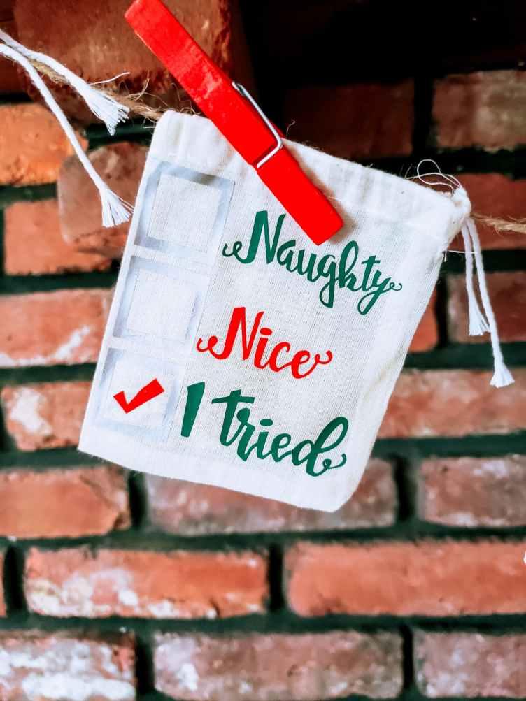 naughty or nice gift bag
