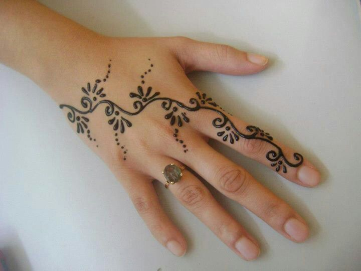 Simple Henna Tattoos Men