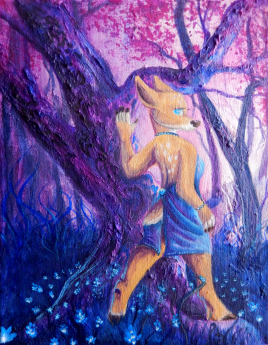 """""""Fae"""" - Watercolor on Canvas 11 x 14in"""