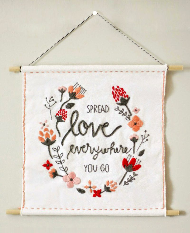 Diy Valentine S Day Wall Hanging Free Template The Pretty Life