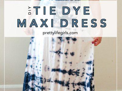 DIY Embellished Tie-Dye Maxi Dress
