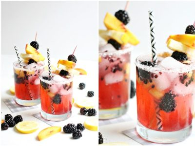 Blackberry Peach Sparkling Lemonade