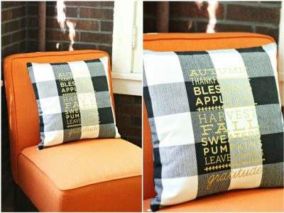 DIY Fall Favorites Pillow