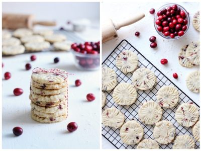 Cranberry and Walnut Pennsylvania Sand Tart Cookies