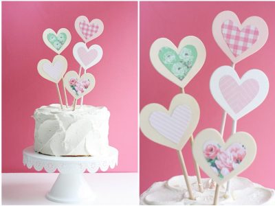 DIY Layered Heart Cake Topper