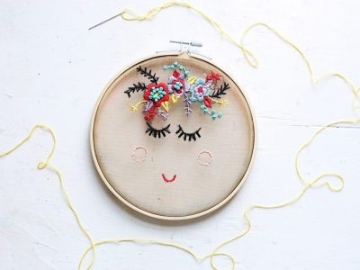 Floral Face Embroidery