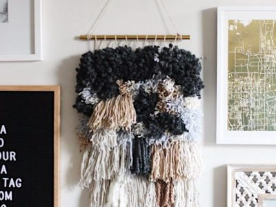 DIY RyaTie Woven Wall Hanging