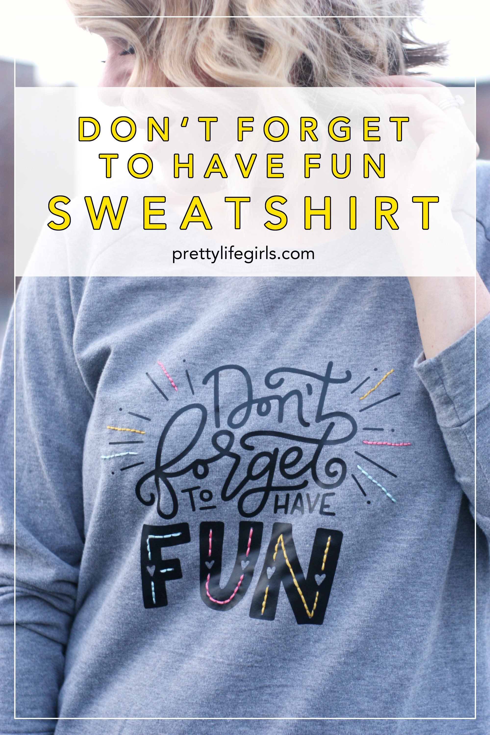 Heat Transfer & Embroidered DIY Sweatshirt tutorial featured by top US craft blog, The Pretty life Girls