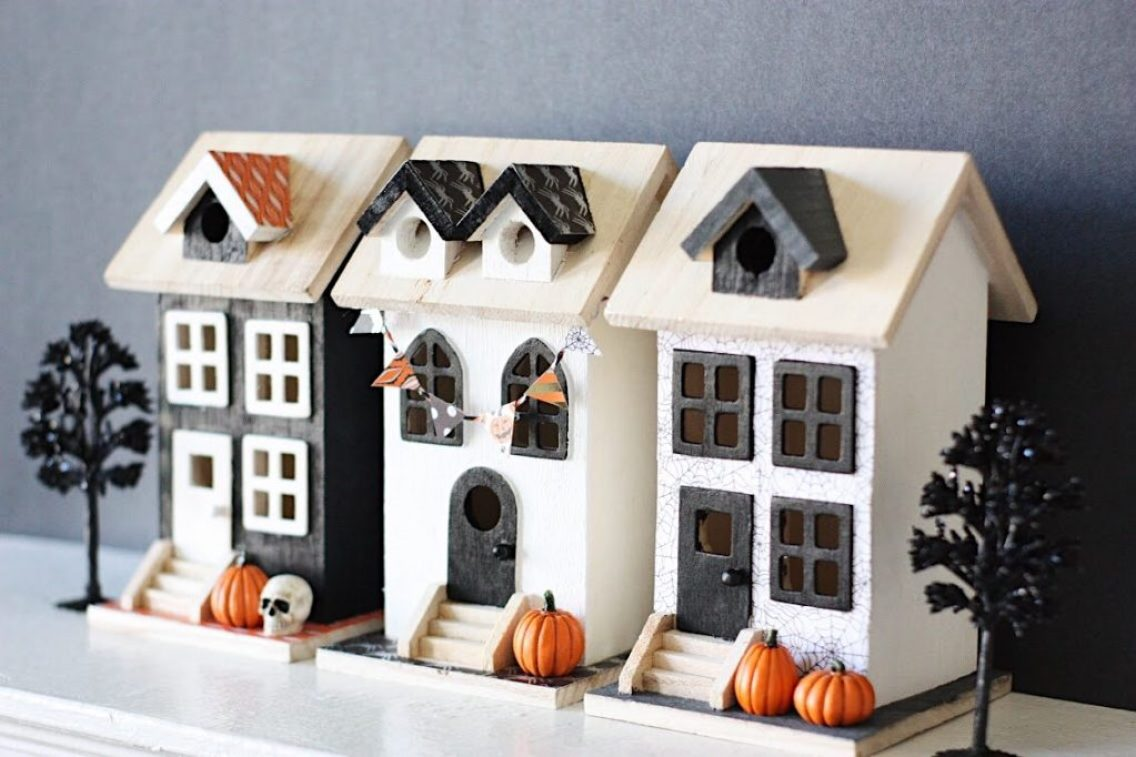 diy halloween village - the pretty life girls