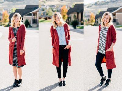 3 Ways to Wear a Long Cardigan