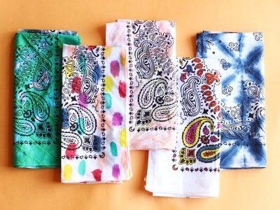 5 DIY Tie-Dye Bandanas, 5 Ways!