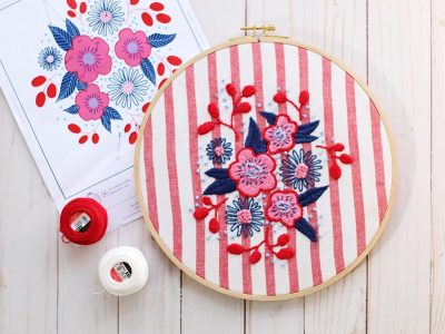 Blooming Bouquet Embroidery Project (Free Pattern!)