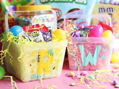 DIY Graphic Monogrammed Easter Baskets