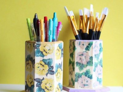 DIY Tattooed Pencil Cups