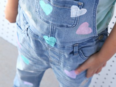How to make DIY Heart Overalls for your little girl