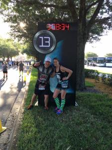 John and I at the 13 mile sign!