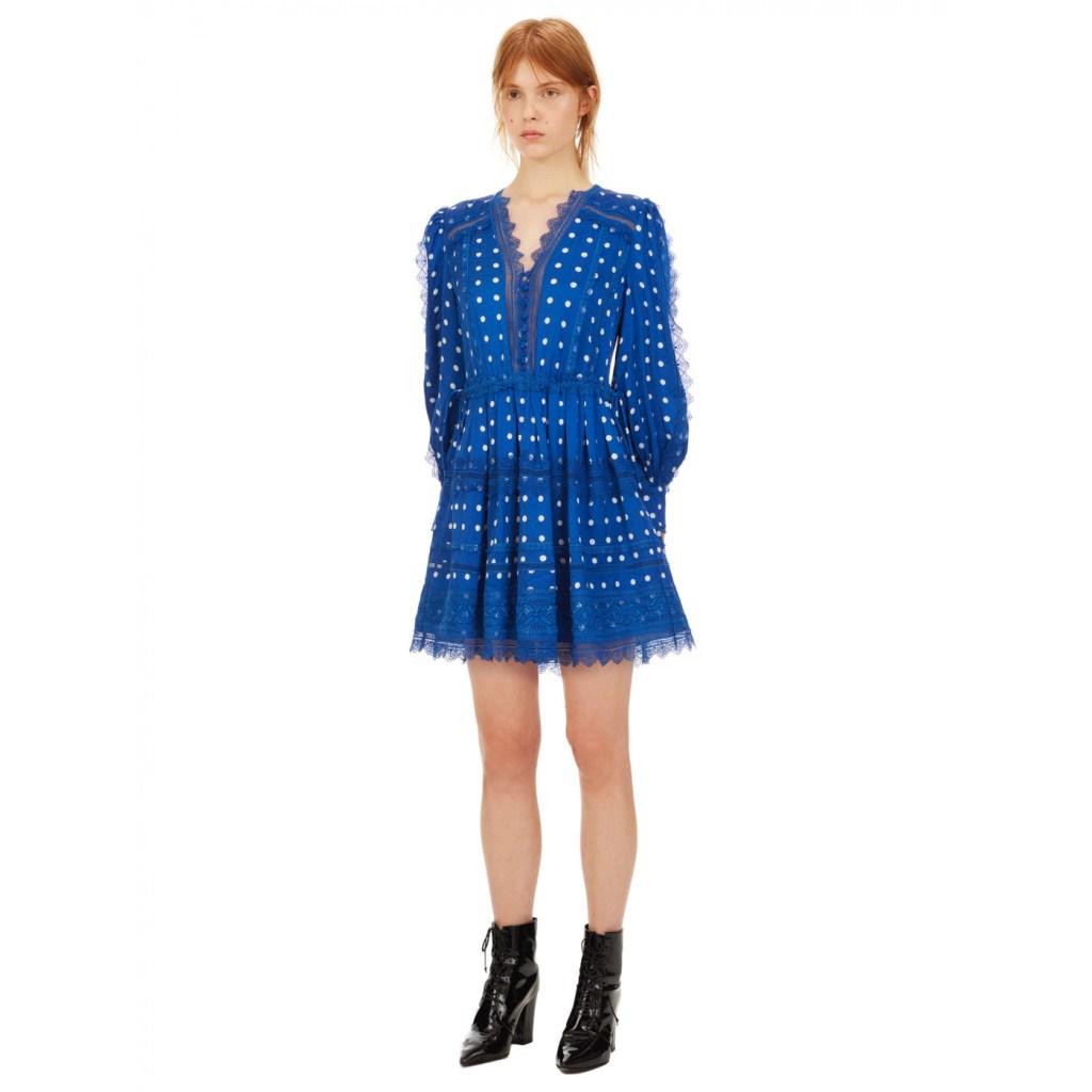 modré mini šaty od Selfportrait