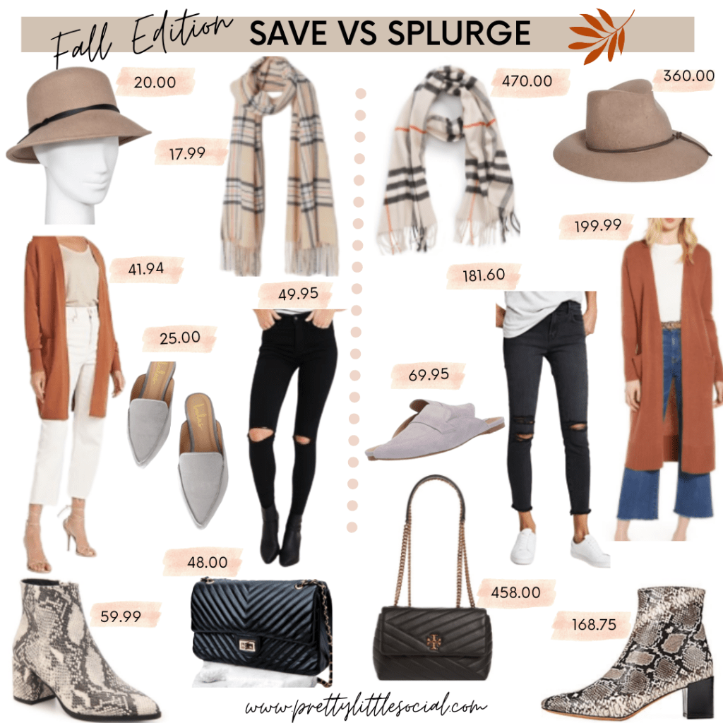 Fall Fashion 7 Must Haves- Save Vs. Splurge Items- pretty