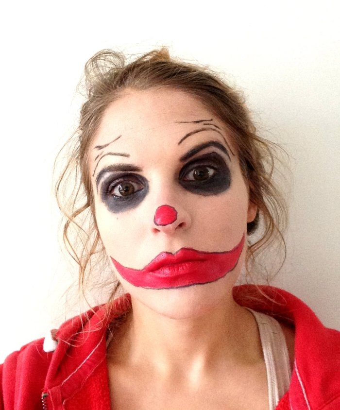 maquillage de clown pour Halloween