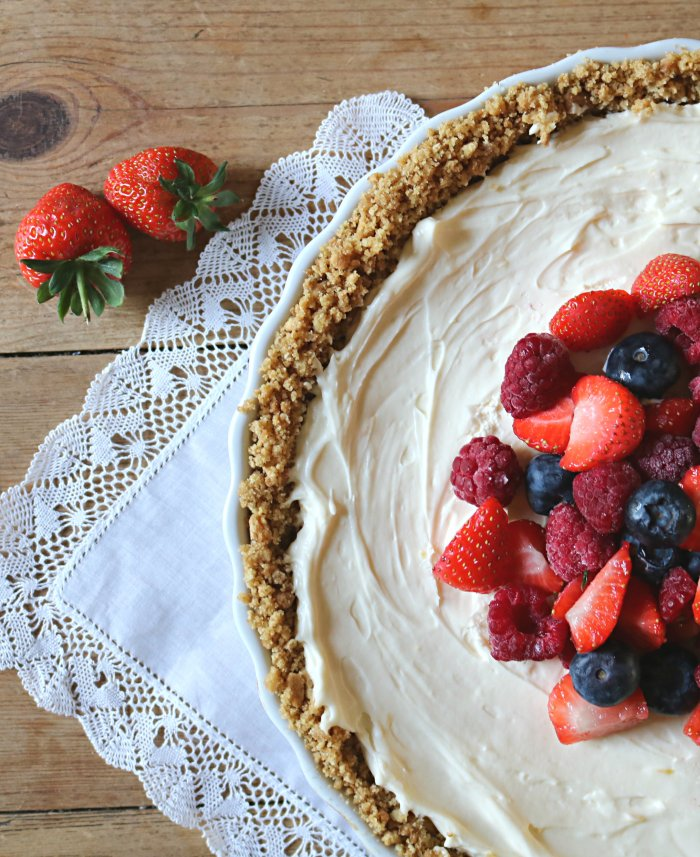 recette tarte au mascarpone, lemon curd et fruits rouges