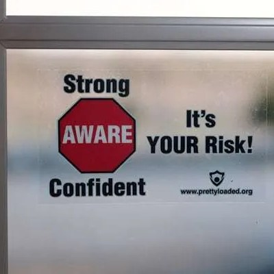 It's Your Risk Cling Sticker