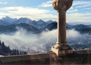 Mountain Range from Neuschwanstein by Alan Richmond