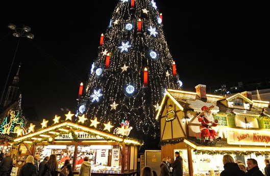 Christmas tree in Dortmund, Germany