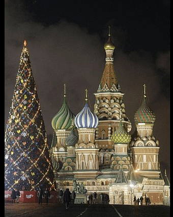 Red Square Christmas Tree, Moscow