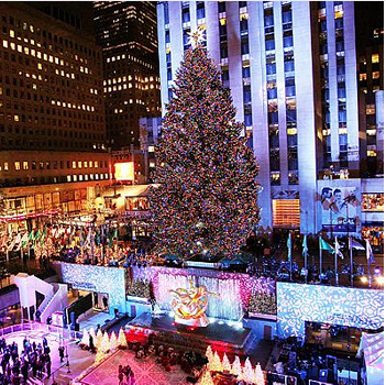 The Rockefeller center Christmas tree in New York