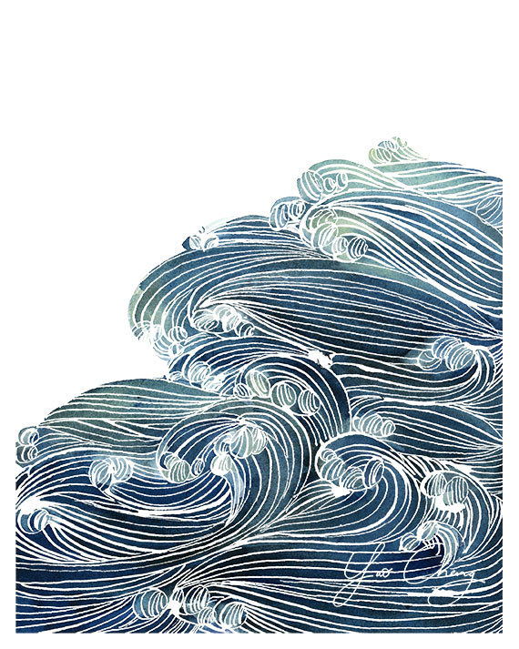 Ocean Waves in blue and green