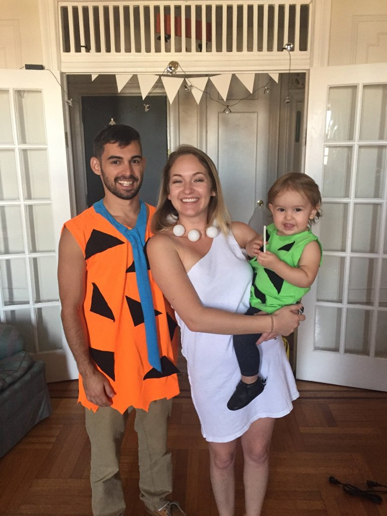 Cheap & easy Flintstones Family Halloween Costume