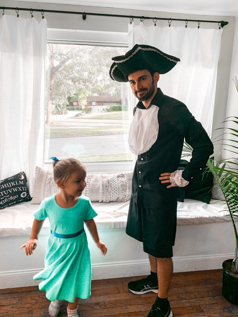 crazy easy captain hook halloween costume for dads