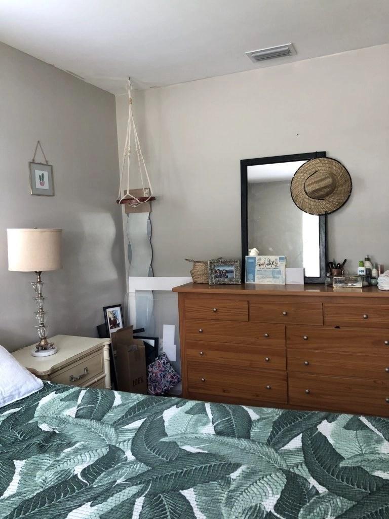one room challenge beige bedroom makeover - before
