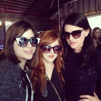 Darcy, Mallory & I pose in sunnies from Mertin's Eye on Friday night