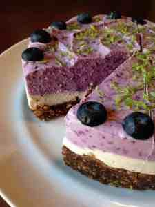 Blueberry Lime Vegan Cheesecake