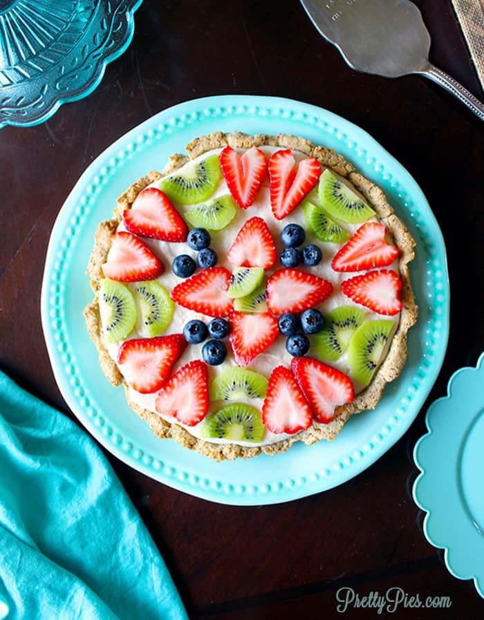 No-Bake Fruit Pizza (Dairy-Free, Gluten-Free)